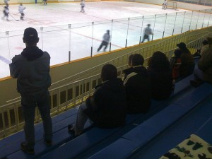 Hockey Parents by Mike LaPlante is licensed under CC BY 2.0